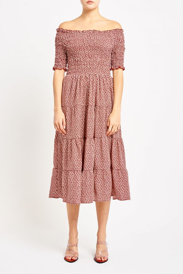 PEGGY OFF SHOULDER DRESS