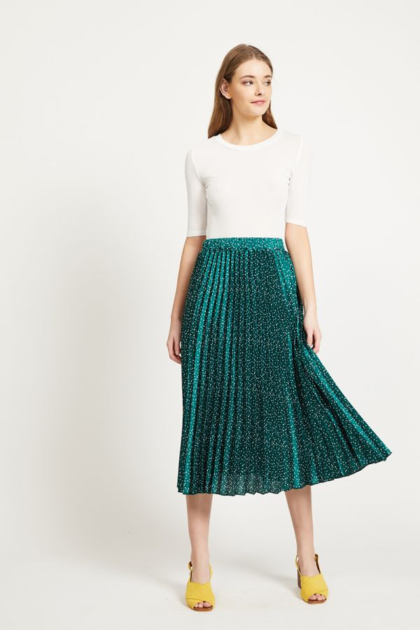 CELIA PLEATED MIDI SKIRT (320443)