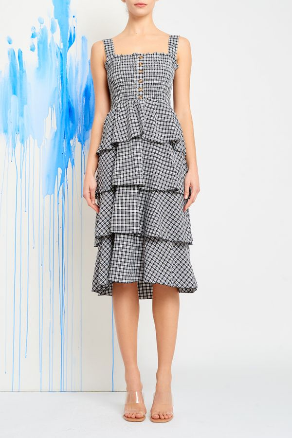 PENNY TIERED DRESS