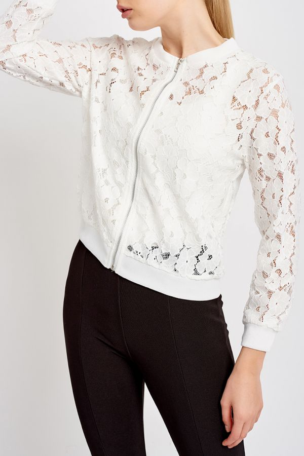 STEPH LACE ZIP JACKET (320694)