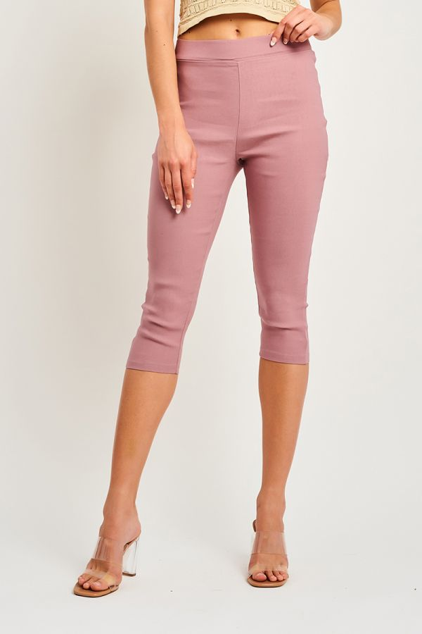 BAND WAIST CROP JEGGINGS