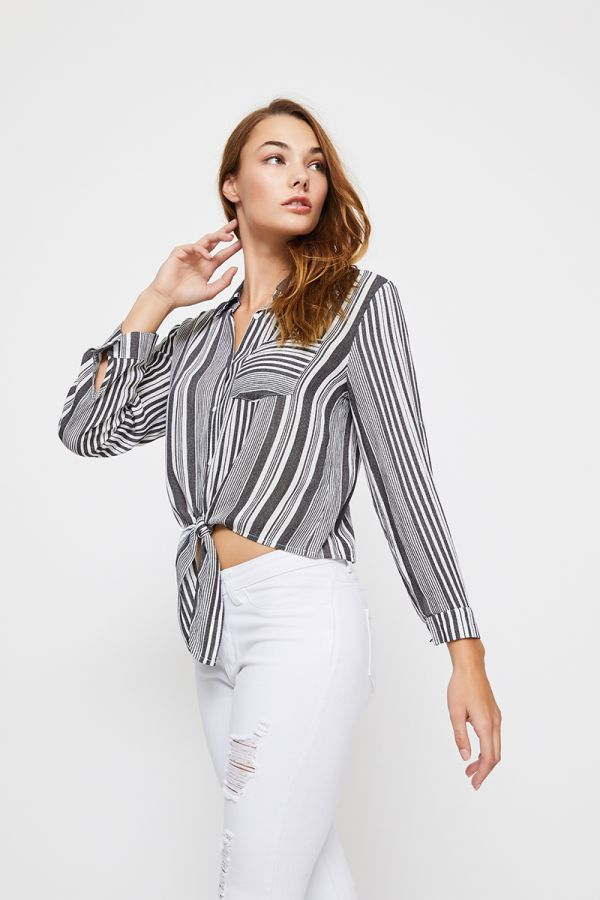 PIA FRONT TIE SHIRT (321122)