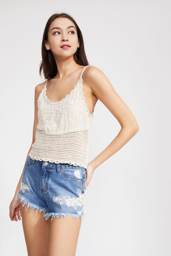 KIANA EMBROIDERED CAMI TOP