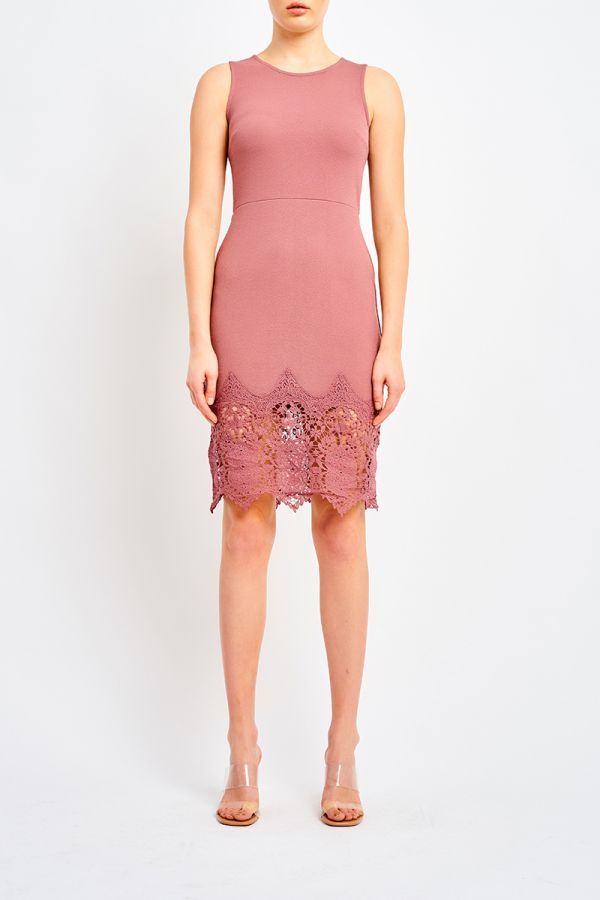 MAISIE LACE HEM MIDI DRESS (322157)