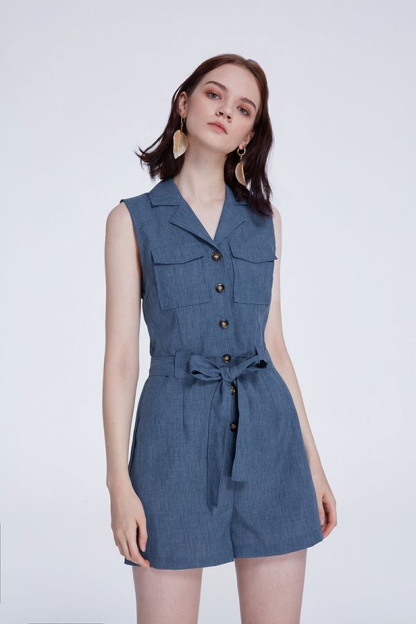 CALAIS COLLAR PLAYSUIT (322244)