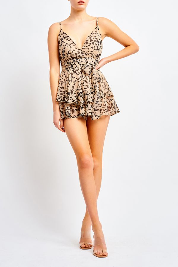 MAICY TIERED PLAYSUIT