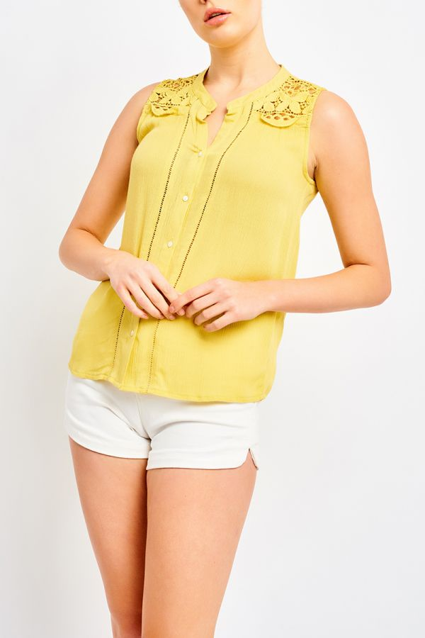 CHELSIE SLEEVELESS SHIRT
