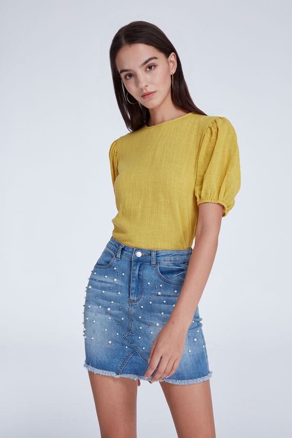 LIMA PUFF SLEEVE TOP (322381)