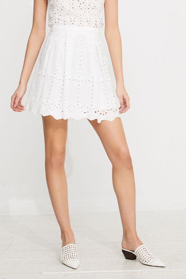 VELIKA CUTWORK EMBROIDERY MINI SKIRT