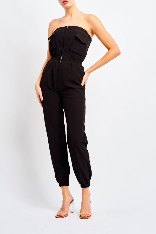 UTILITY STRAPLESS JUMPSUIT
