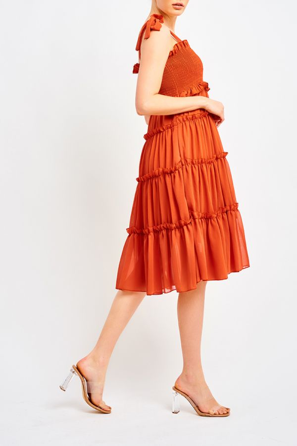 KARINA TIE SHOULDER DRESS