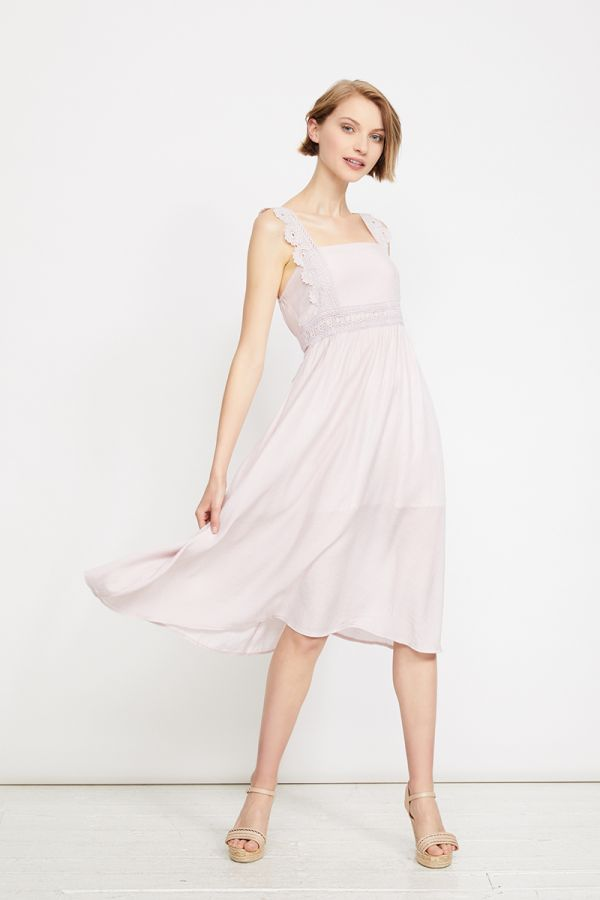 IONA LACE TRIM MIDI DRESS (322570)