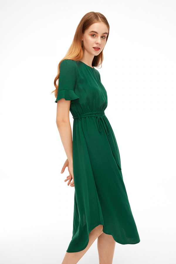 ROSIE BELL SLEEVE MIDI DRESS (322640)
