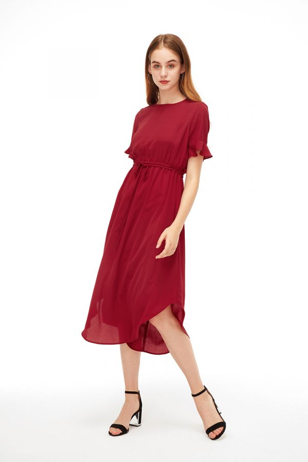 ROSIE BELL SLEEVE MIDI DRESS