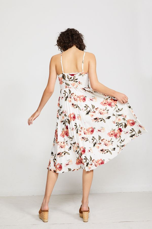 MAGDALENA PLEATED FLORAL DRESS (322673)