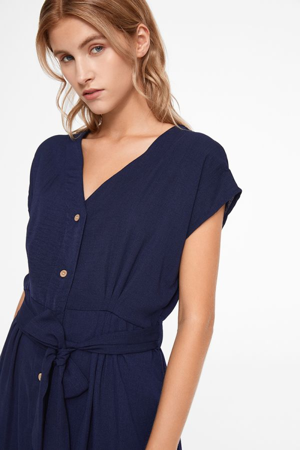 SUSAN BUTTON DOWN TIE WAIST DRESS
