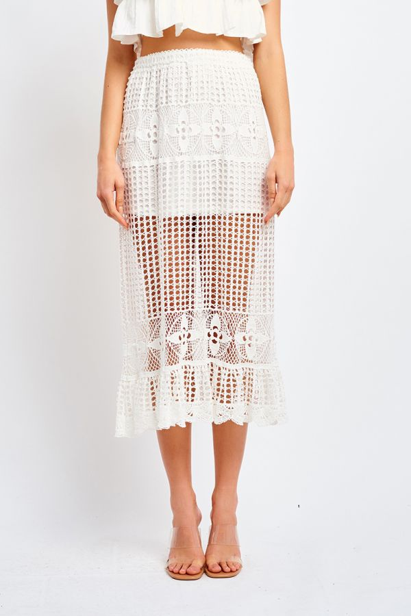 FREIDA CROCHET SKIRT