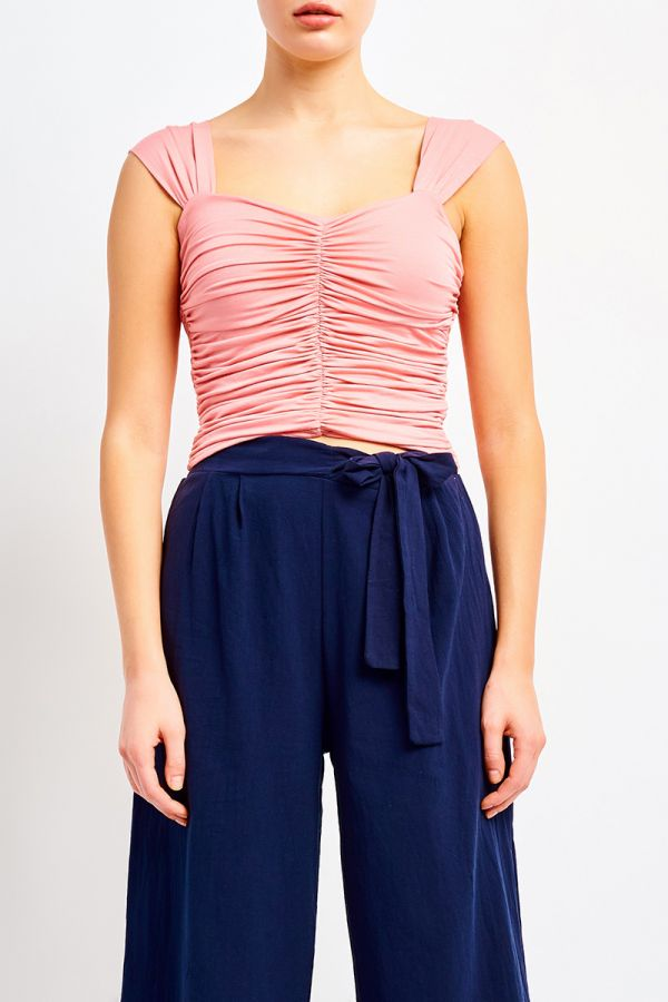 CAROLE RUCHED TOP