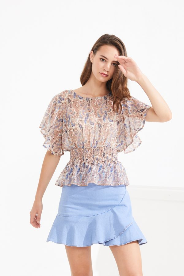 LUCIA SHIRRED TOP (322808)