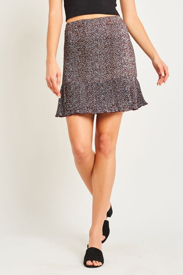 ALICE SHIRRED MINI SKIRT