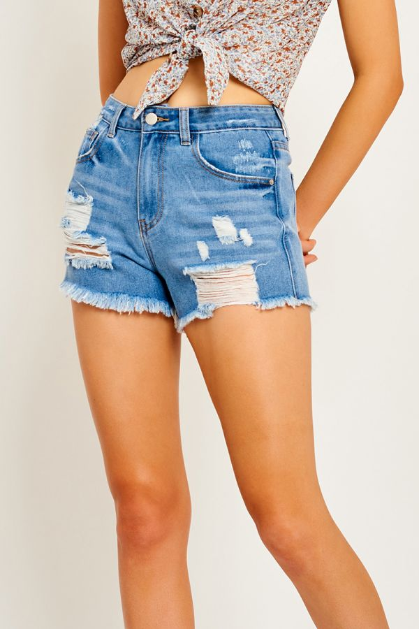 JACK DISTRESSED DENIM SHORTS (323161)