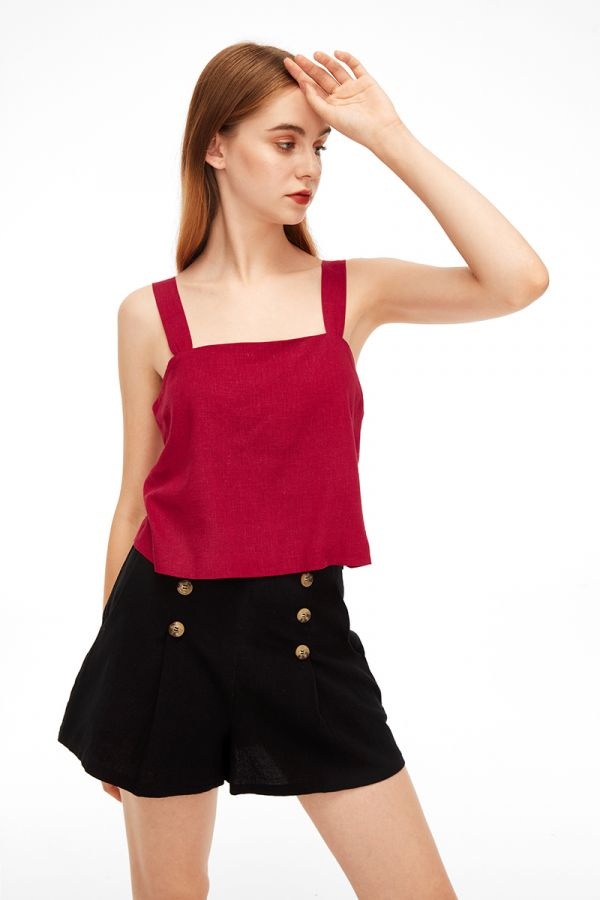 ELEANOR SQUARE NECK SLEEVELESS TOP (323174)