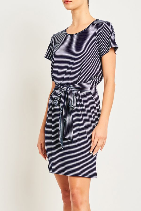 MINA TIE FRONT DRESS