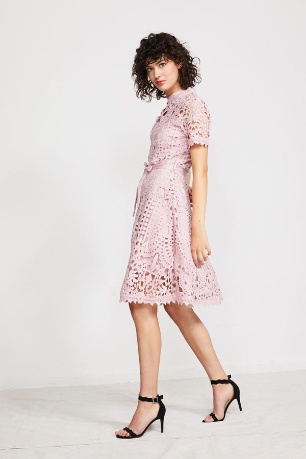 SUSSAN BRODERIE BOTTON UP DRESS