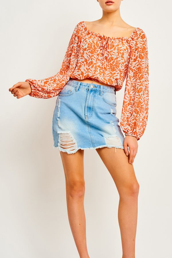 CALIFORNIA BALLOON SLEEVE BLOUSE (323592)