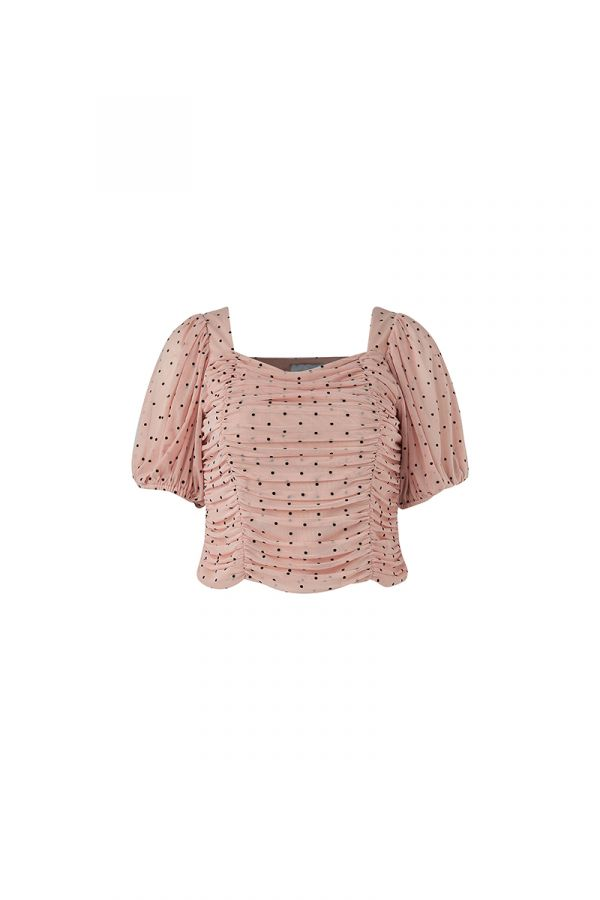 JOAN SQUARE NECK RUCHED TOP