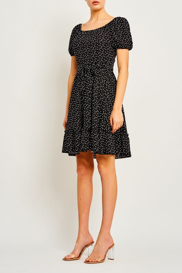 LUCIA TIE FRONT DRESS (323706)