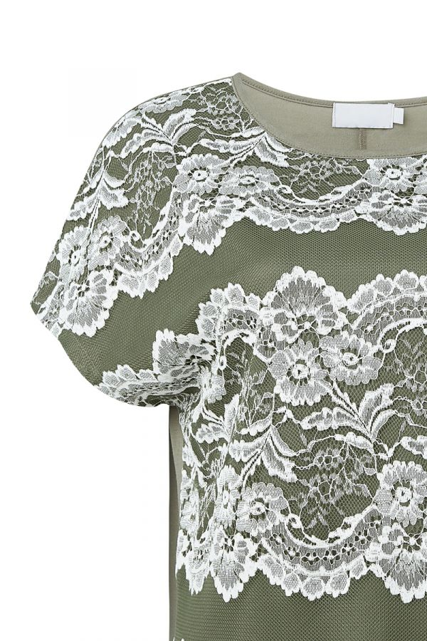 BARBRA LACE DETAIL TOP (323940)