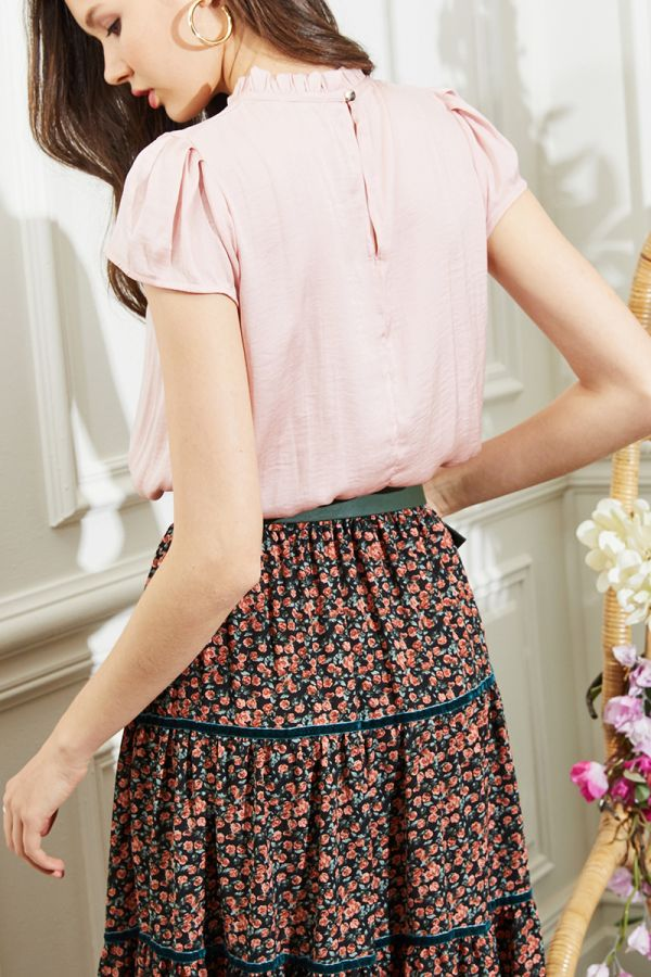 WILMA HIGH NECK BLOUSE (324025)
