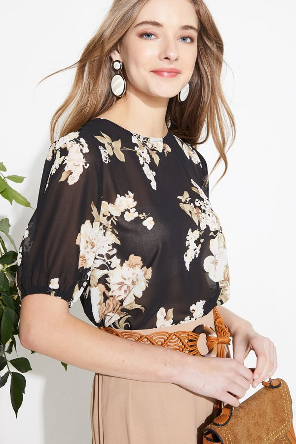 ROSITA SHORT SLEEVE BLOUSE (324026)
