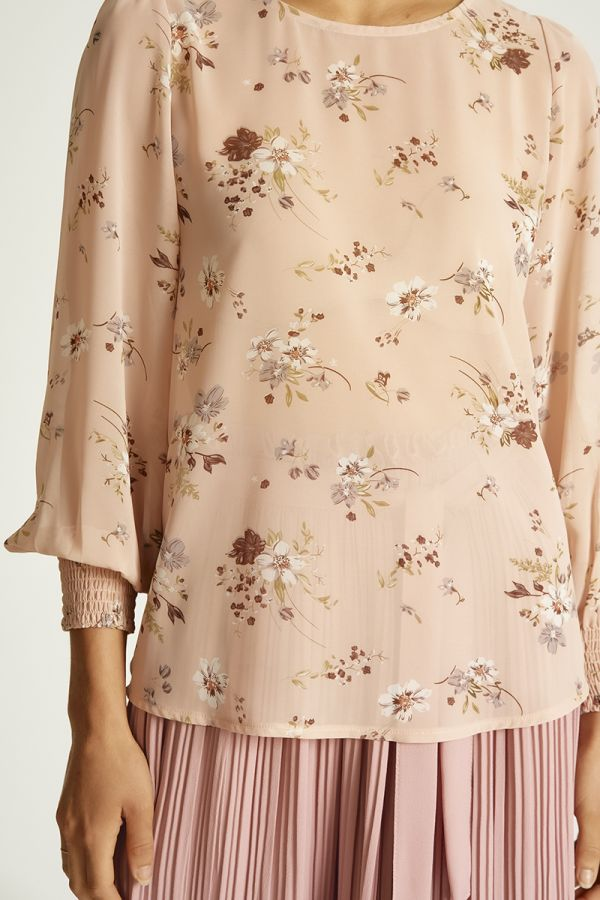 chiffon long sleeve top  (324067)