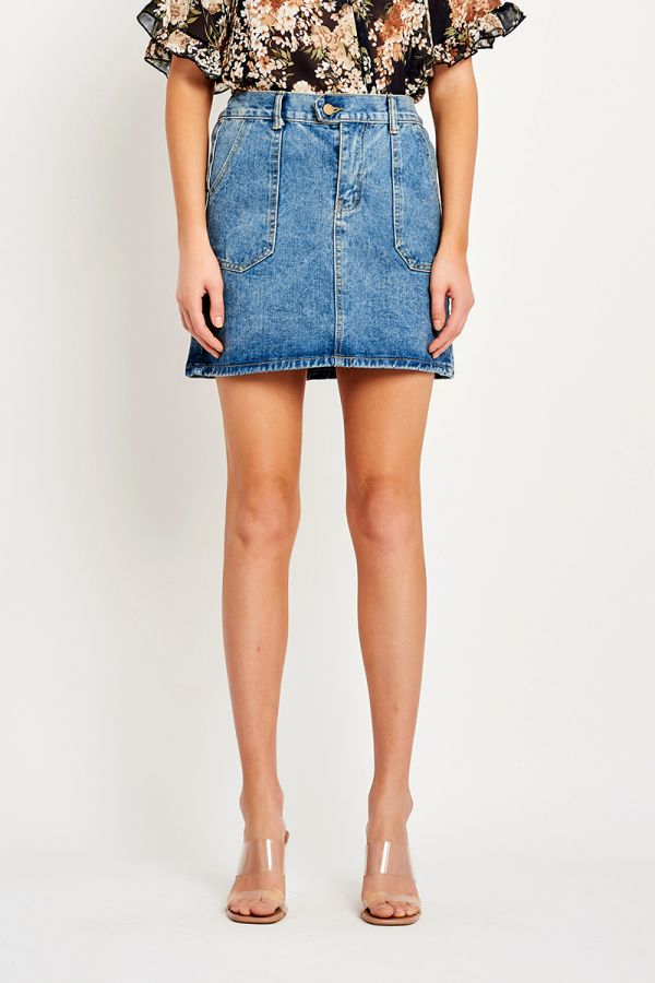 TORI DENIM MINI SKIRT (324076)