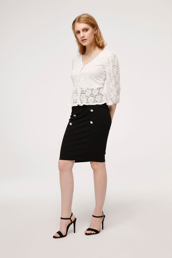 CAVIAR PENCIL SKIRT (324355)