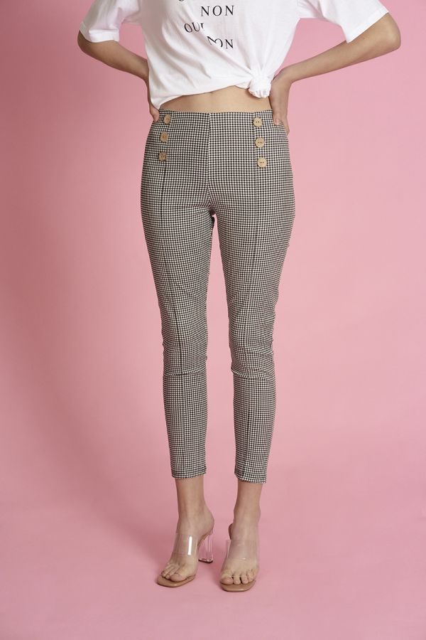 button down skinny pants  (324415)