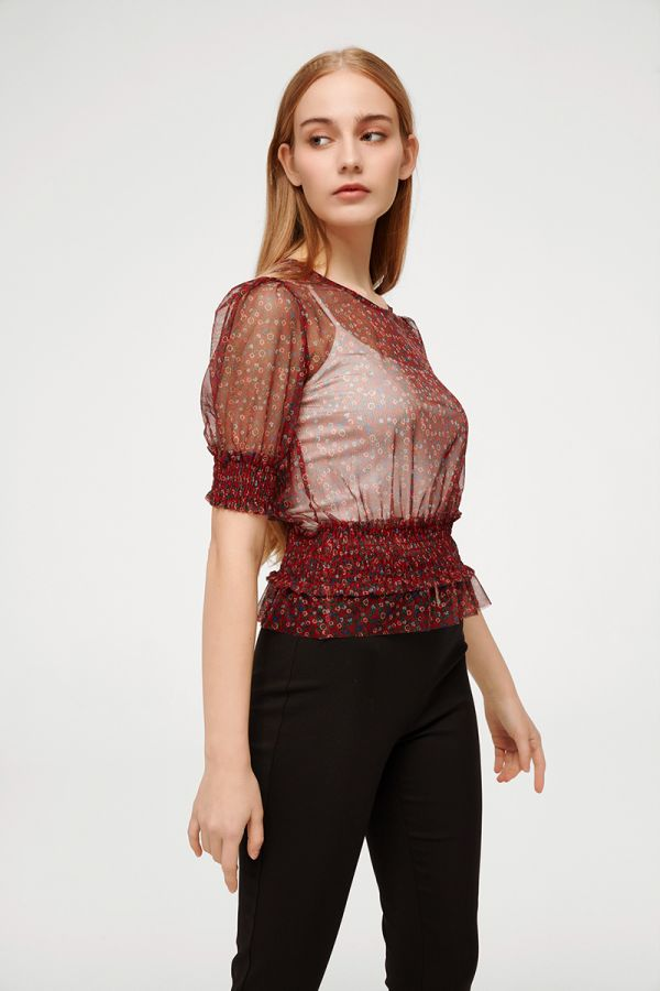 GINGER SHEER BLOUSE  (324463)