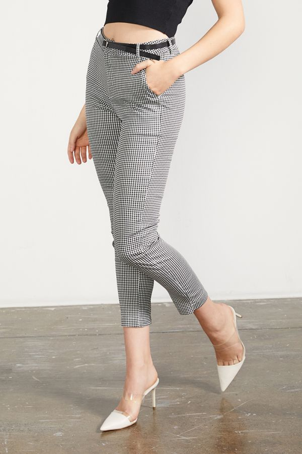 belted skinny pants  (324483)
