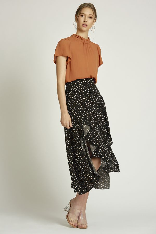 long skirt with ruffle split  (324512)