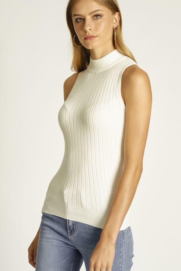 high neck sleeveless knit top (324632)