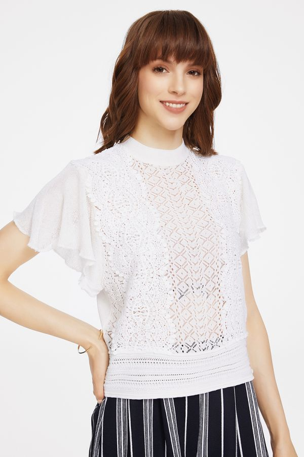 lacy knit top  (324667)