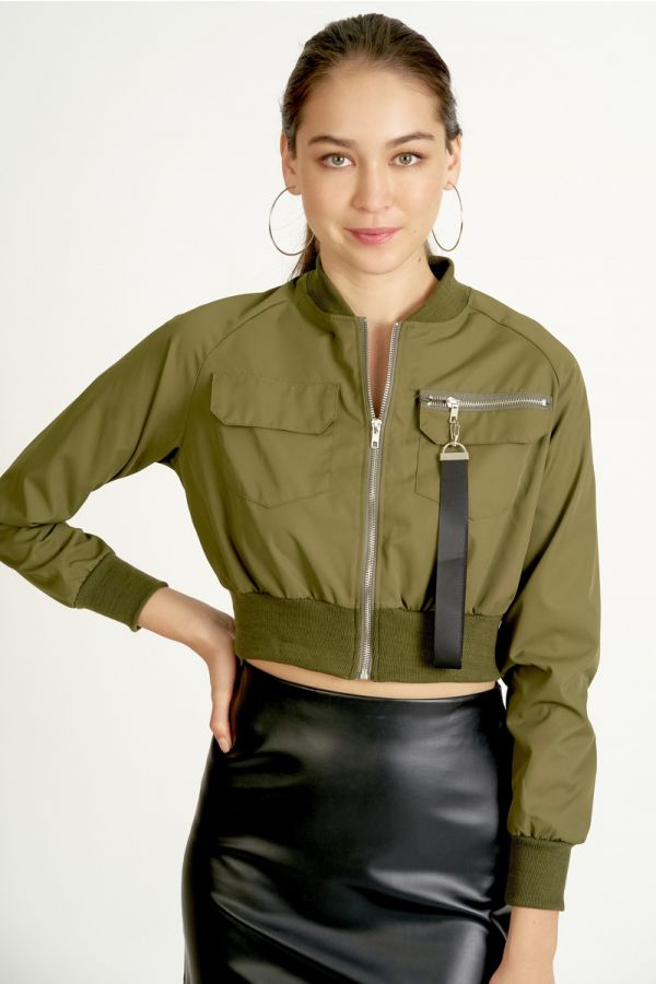 cropped bomber jacket  (324716)