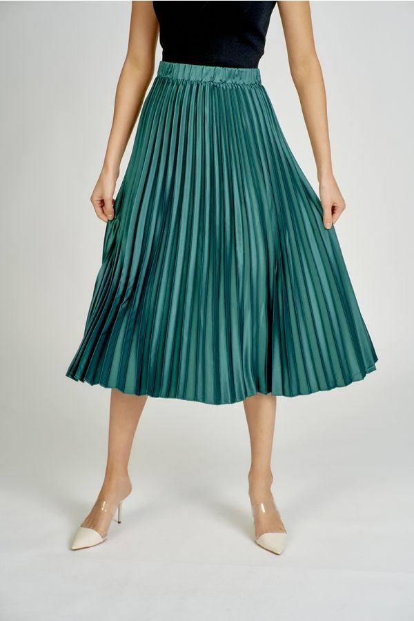 solid pleated skirt  (324737)
