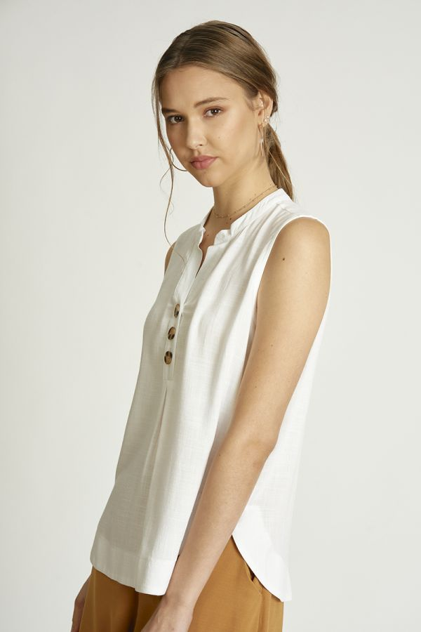 linen look shirt top  (324830)