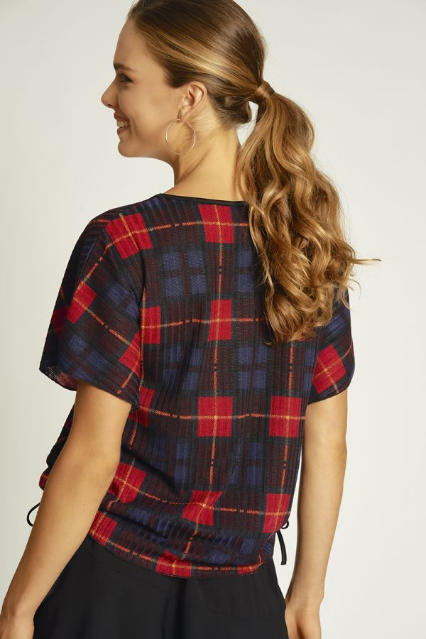 coloured check easy top  (324841)