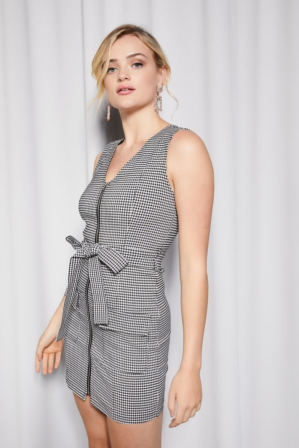 front zipper fitted dress  (324867)