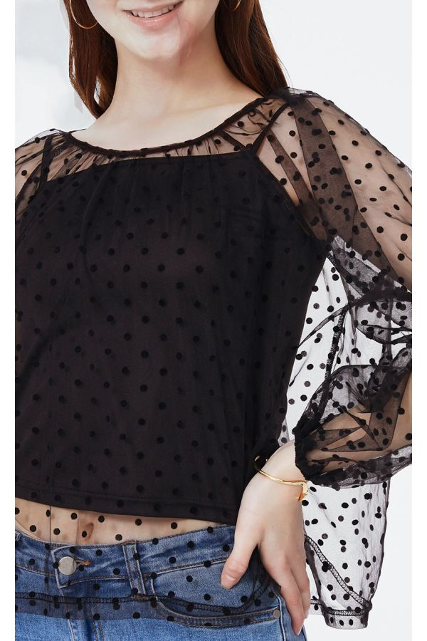 printed mesh top with singlet  (325069)