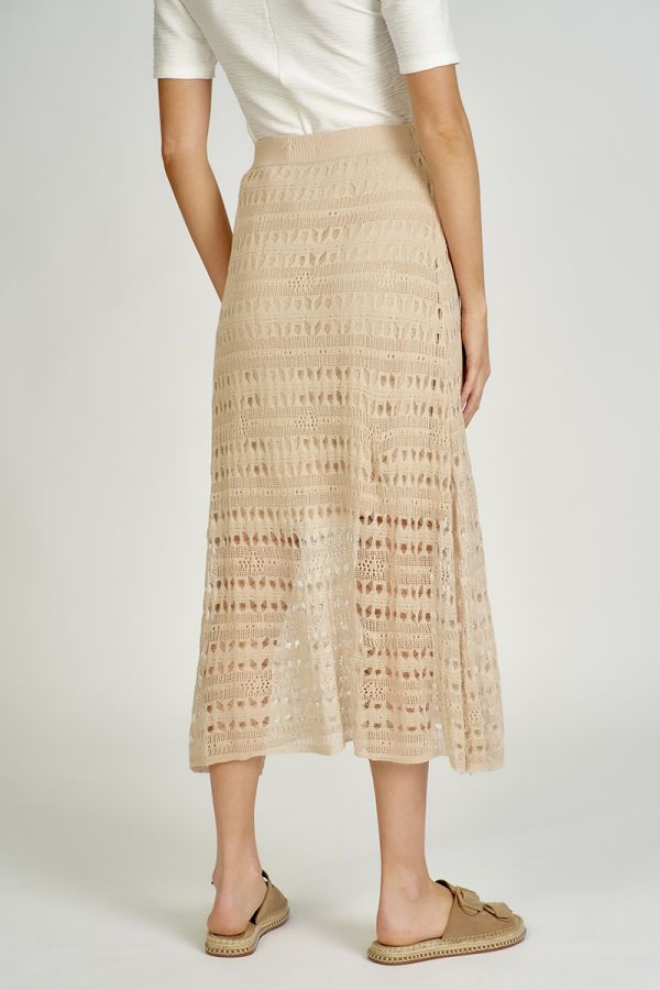 patterned knit midi skirt  (325152)
